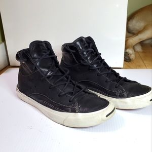 Converse jack purcell leather high top size 7
